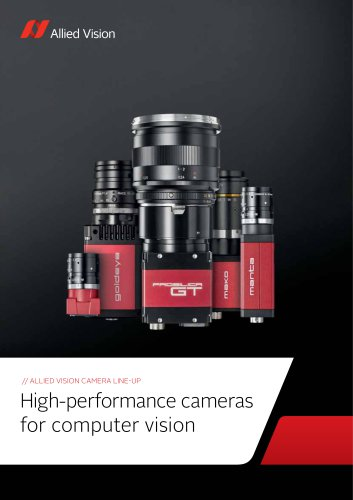 ALLIED VISION CAMERA LINE-UP High-performance cameras for computer vision