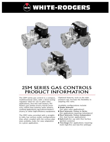 25M SERIES GAS CONTROLS PRODUCT INFORMATION