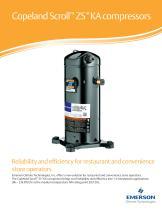 Copeland Scroll ™  ZS*KA compressors