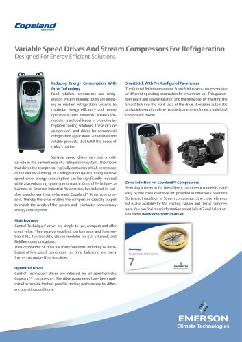 Variable Speed Drives And Stream Compressors For Refrigeration