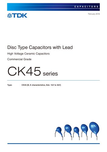 Disc Type Capacitors with Lead CK45  series
