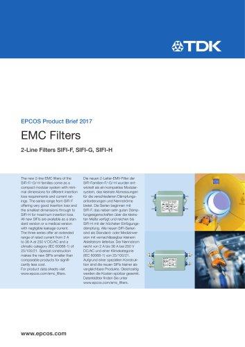 EMC Filters 2-Line Filters SIFI-F, SIFI-G, SIFI-H