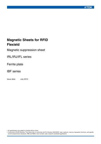 Magnetic Sheets for RFID Flexield