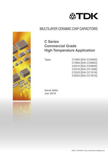 Multilayer Ceramic Chip Capacitor C Series Commercial Grade