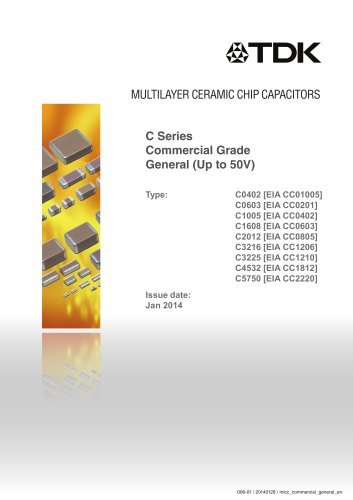 Multilayer Ceramic Chip Capacitor C Series Commercial Grade General (Up to 50V)