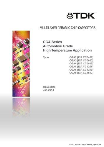 Multilayer Ceramic Chip Capacitor CGA Series Automotive Grade