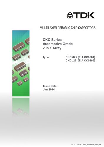 Multilayer Ceramic Chip Capacitor CKC Series Automotive Grade
