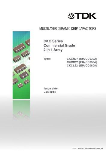 Multilayer Ceramic Chip Capacitor CKC Series Commercial Grade