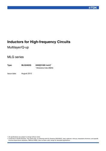 Multilayer/Q-up MLG0402Q