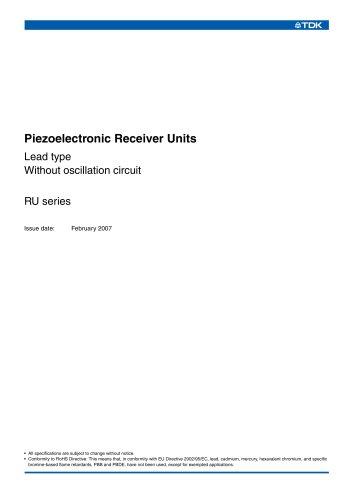Piezoelectric Receiver RU