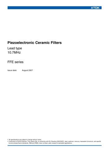 Piezoelectronic Ceramic Filters