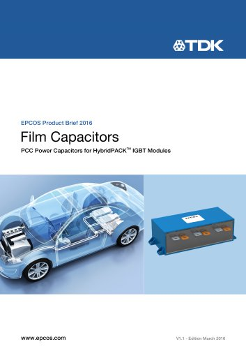 Product Brief  Film Capacitors PCC Power Capacitors for HybridPACK™ IGBT Modules