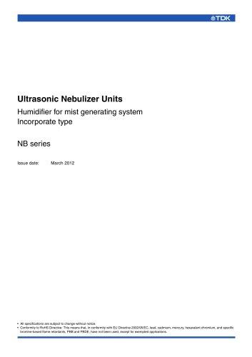 Ultrasonic Nebulizer Units NB