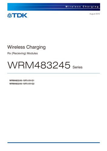 Wireless Charging WRM483245   Series