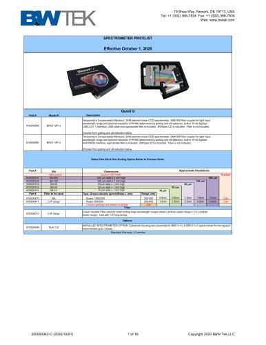 B&W Tek OEM Systems Catalog