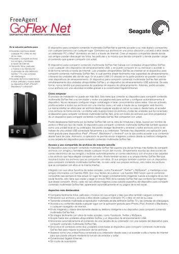 Dispositivo para compartir contenido multimedia GoFlex Net