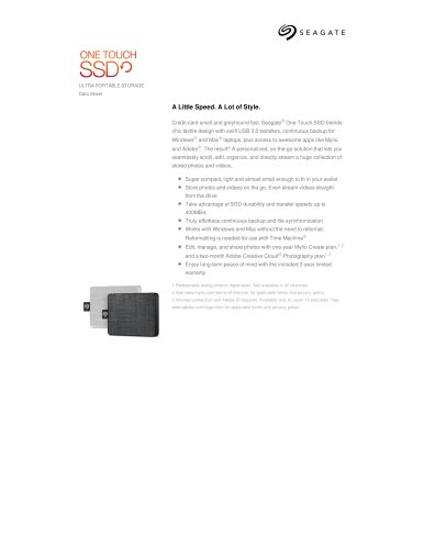 one touch SSD