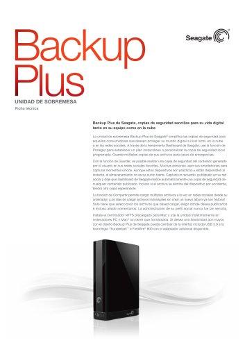Unidad de sobremesa Backup Plus
