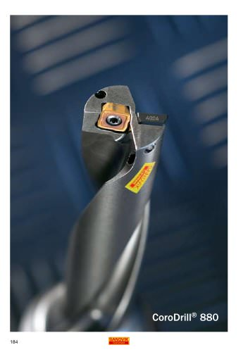 DRILLING - Indexable insert drill CoroDrill® 880 (High quality holes in one step)