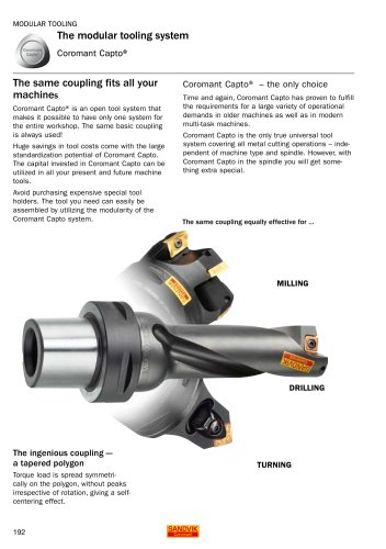 DRILLING - The modular tooling system (Coromant Capto)