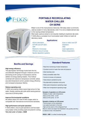 Chiller - Cold water production machine