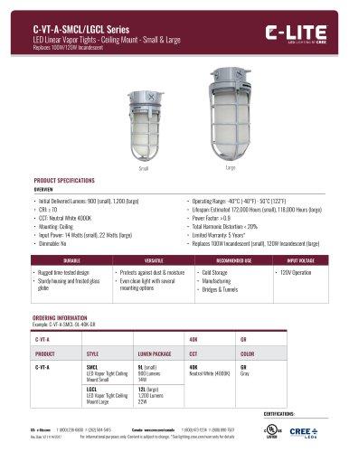 C-Lite™ C-VT-A-SMCL/LGCL Series Vapor Tight