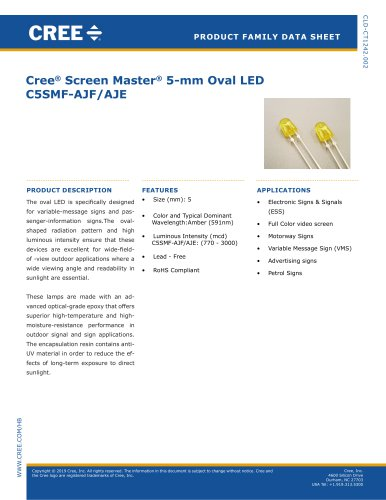 Cree® Screen Master® 5-mm Oval LED C5SMF-AJF/AJE