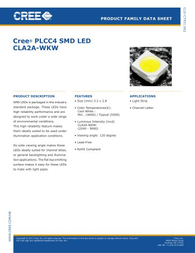 SMD White Series White Face CLA2A