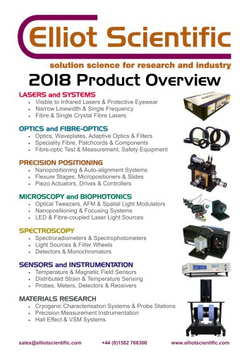 Product Overview Brochure 2018