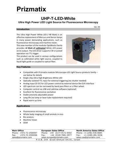 UHP-T-LED-White