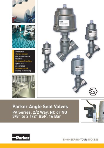 Angle seat valves - PA Series