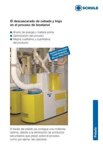 El descascarado de cebada y trigo en el proceso de bioetanol