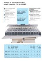 Máquinas clasificadoras - Mesa densimétrica de alta capacidad TH3 - 3