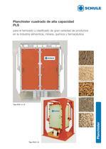 Máquinas clasificadoras: Planchister cuadrado de alta capacidad PLS - 1