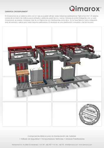 Crossrunner mk7 máquina paletizadora