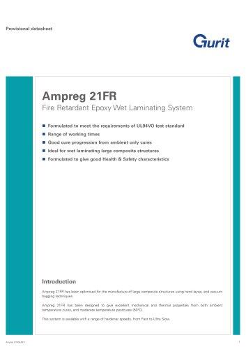 Ampreg 21FR - Fire Retardant Epoxy Wet Laminating System (v6)