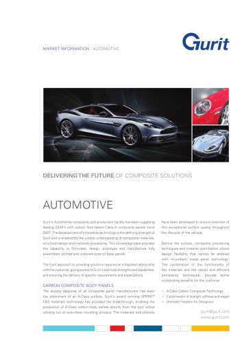 Automotive Market Summary from Gurit