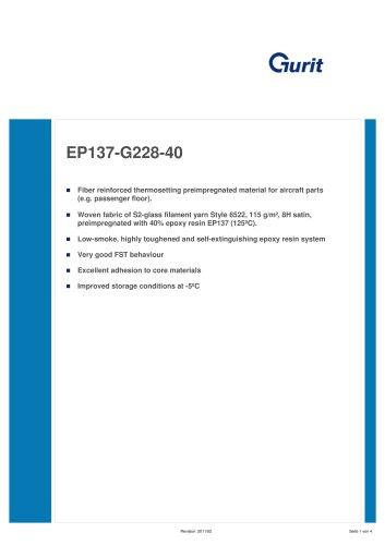 EP137 - Preimpregnated materials for aircraft parts (v2)