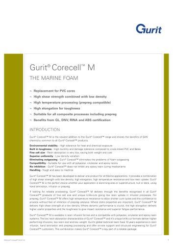 Gurit® Corecell M - The Marine Foam (v6)