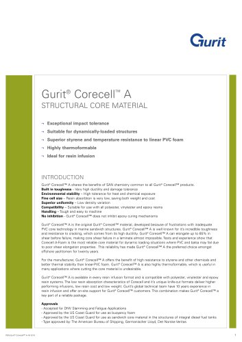 Gurit® Corecell A - Structural Core Material (v10)