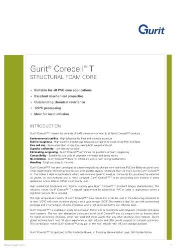Gurit® Corecell T - Structural Foam Core (v9)