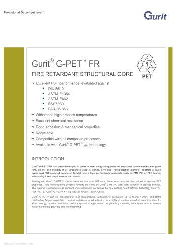 Gurit® G-PET FR - Fire Retardant Structural Core (v6)