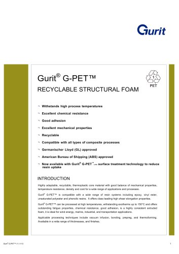 Gurit® G-PET - Recyclable Structural Foam (v11)