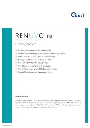 RENUVO Finishing System (FS) v1