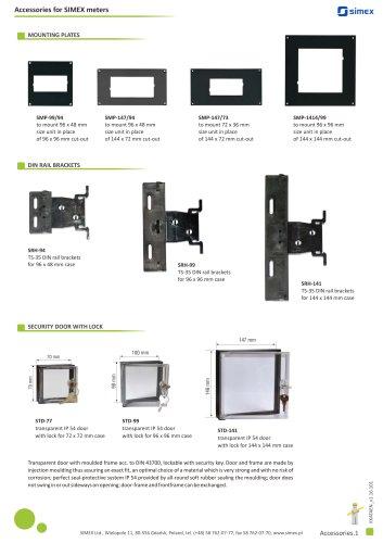 Accessories for SIMEX meters brochure