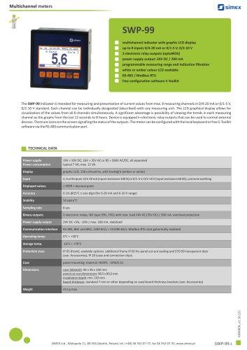Multichannel indicator SWP-99 datasheet