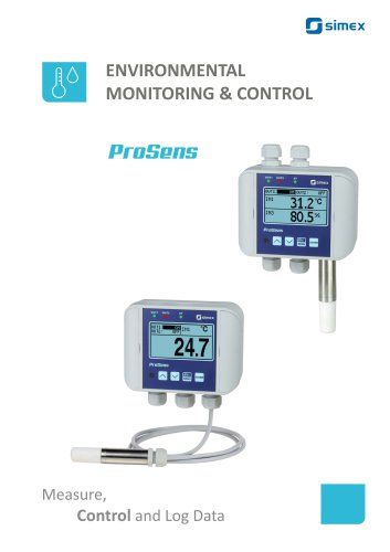 ProSens Overview - environmental monitoring and control