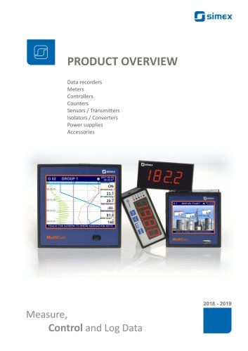 SIMEX Product overview - Catalogue 2019/2020