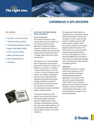COPERNICUS II GPS RECEIVER