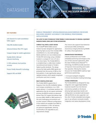 TRIMBLE BD910 GNSS RECEIVER MODULE